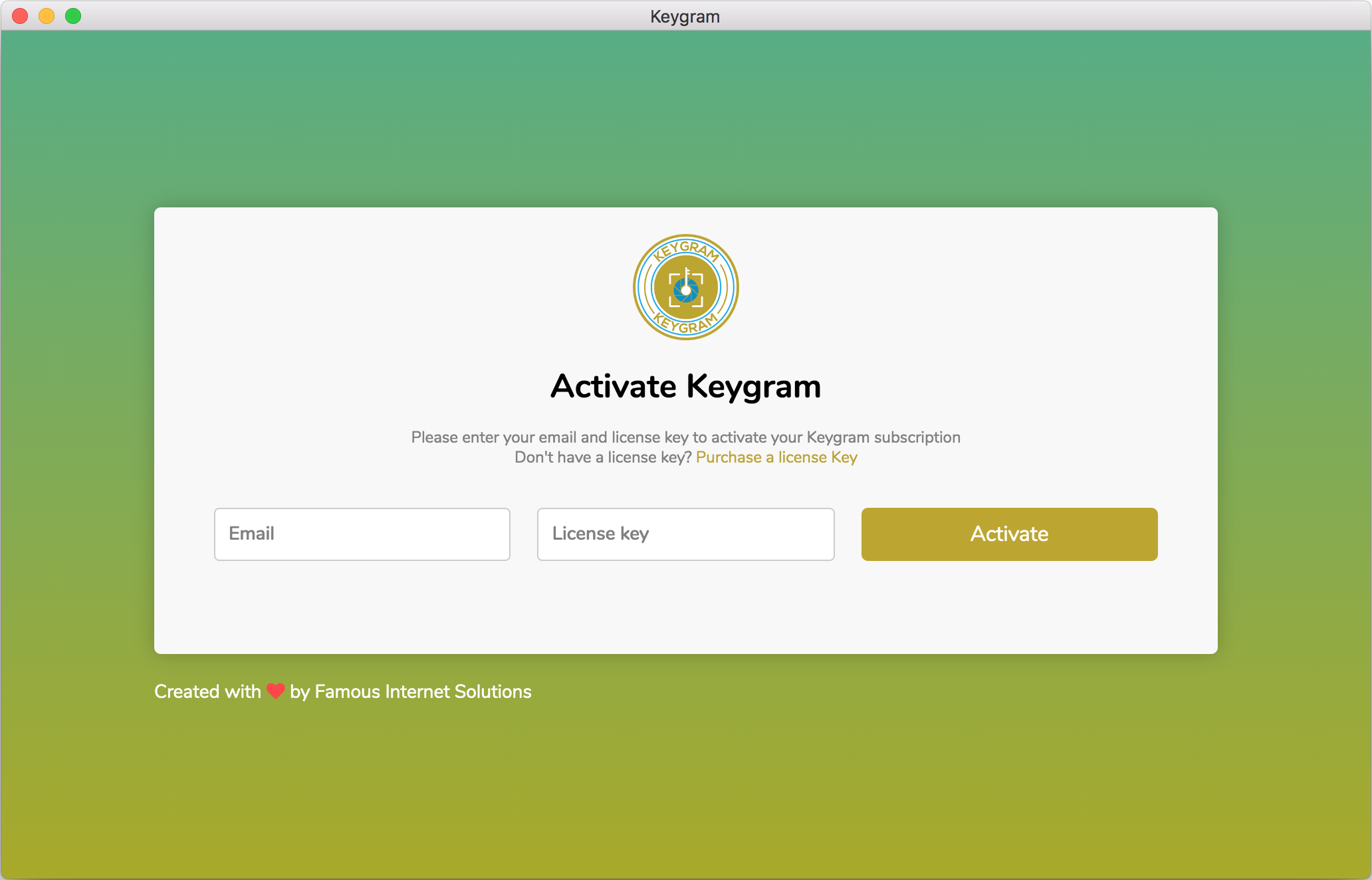 Keygram Instagram Activation