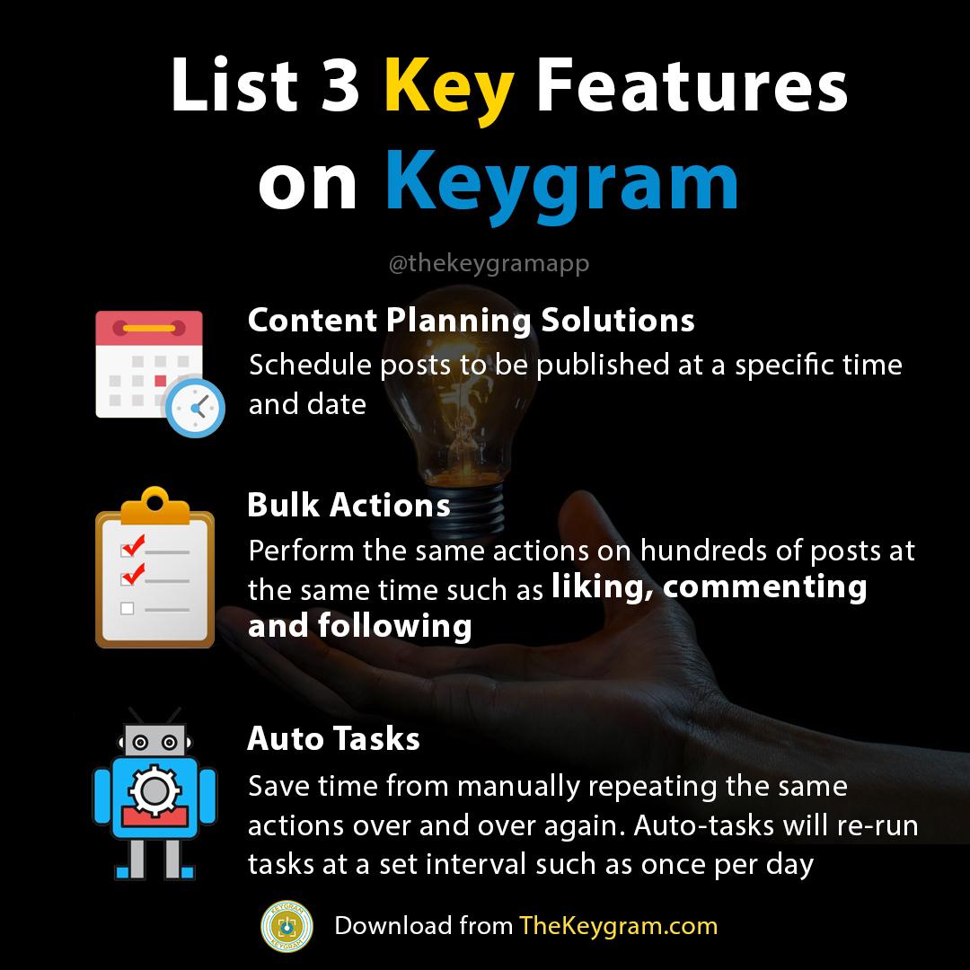 3 Key Features on Keygram